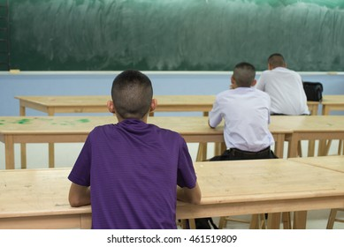 Student in class room