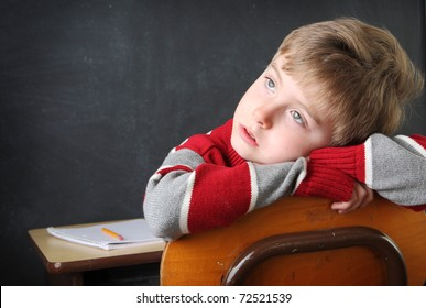 Student daydreaming
