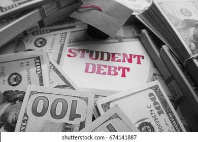 Student Debt Black & White High Quality