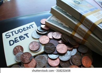 Student debt stock photo