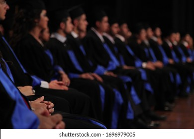 Student during the graduation ceremony