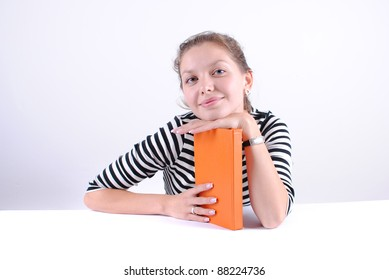 Student girl learning at the desk