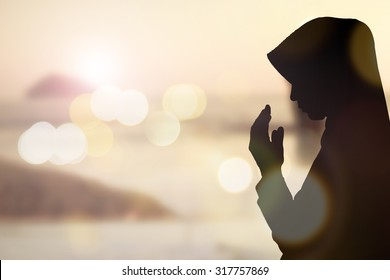 Student kindness muslim women wear hijab prayer white sky light ray background concept website banner summer dreams soul Asean arabic rise in trust quran to praise heal help health in eid fitr 2017