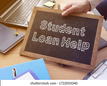 Student Loan Help is shown on the conceptual photo