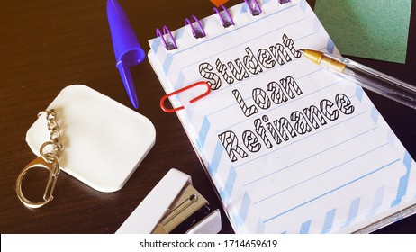 Student Loan Refinance is shown on the conceptual photo