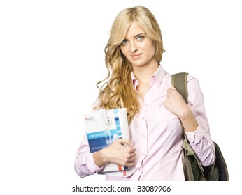Student On white background