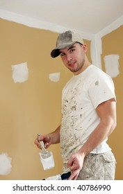 Student painter at work.