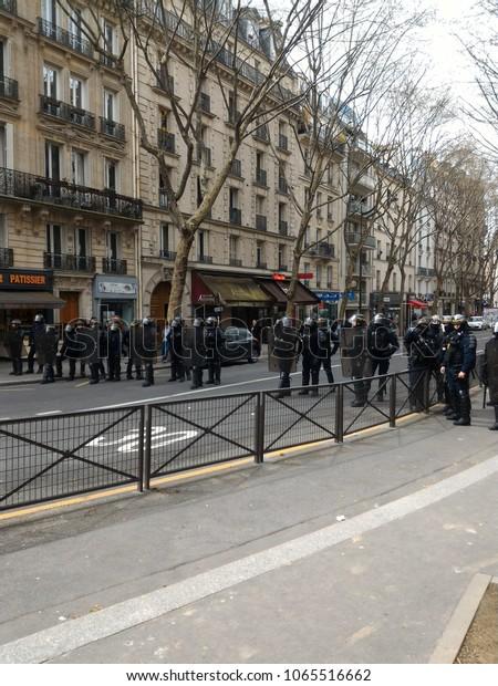 Student Protest Front University Paris Upmc Stock Photo (Edit Now