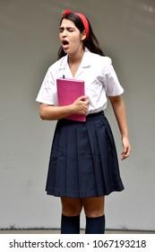 Student Teenager School Girl Under Stress
