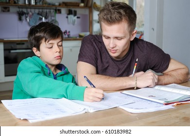 Student is tutoring an elementary school pupil at home