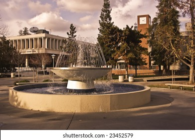 The Student Union and bookstore at California State University, Fresno, the heart of the campus.