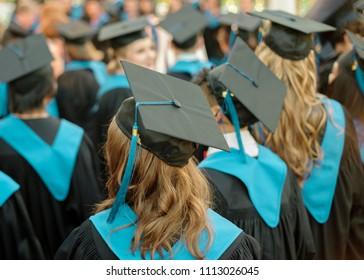 Students attend school graduation