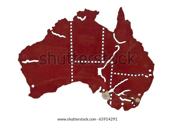 Map Of Australia For Students.Students Broken Australia Map Stock Photo Edit Now 65914291
