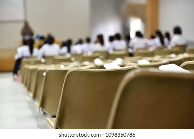 Students in the classroom are talking,Abstract blurry