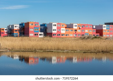 Students housing in containers in North Amsterdam