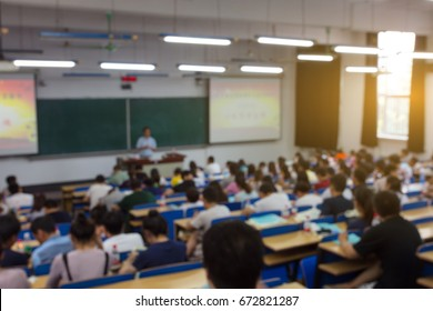 Students listen to reports in Chinese university classrooms