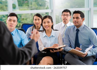Students listening to teacher