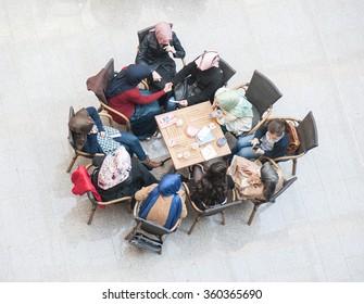 Students at modern university