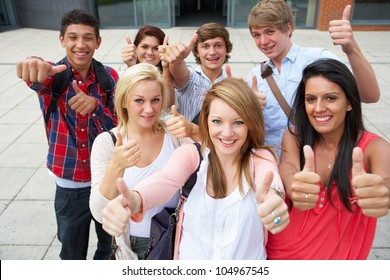 Students outside college