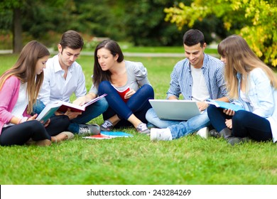 Students at the park