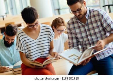 Students preparing the examinations