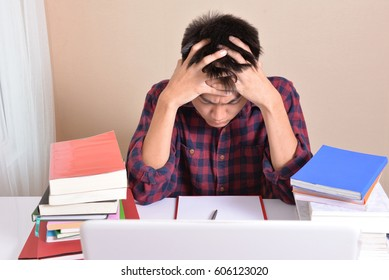 Students are stressed with exam preparation.