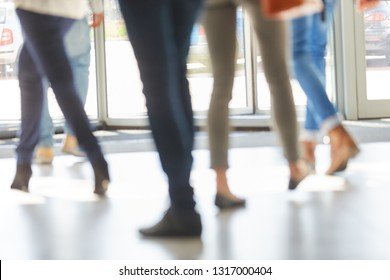 Students in university revolving door as a group