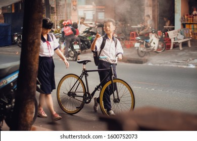 The students at Vietnam. Taken at Ho Chi Minh city, Viet Nam. Taken in DEC, 2019