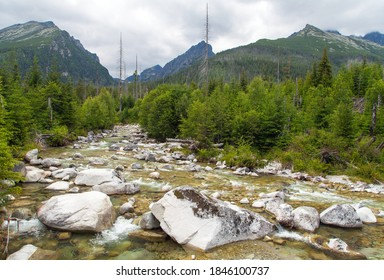 Studeny potok in High Tatras mountains, Slovakia - Shutterstock ID 1846100737