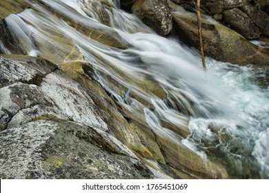 Studeny potok waterfalls in the National Park of High Tatras, Slovakia