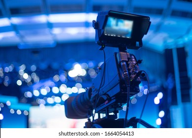 studio camera at the concert. television shooting - Shutterstock ID 1664054413
