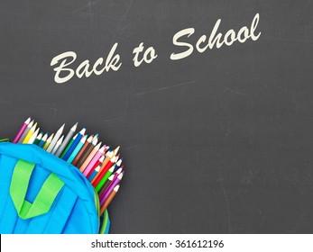 A studio conceptual photo of back to school