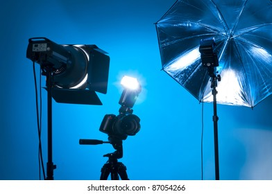 Studio equipment used by professional photographers