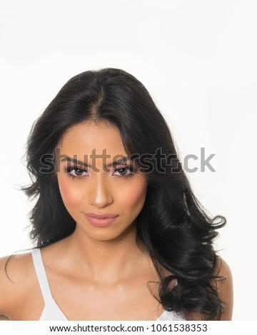 Studio Fashion Beauty Shoot With Gorgeous Latina Model