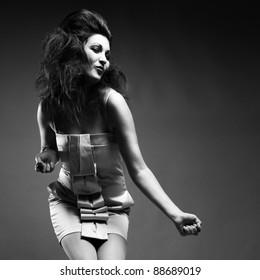 Studio fashion black and white.