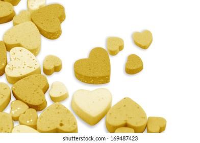 Studio image Valentine hearts Isolated on white
