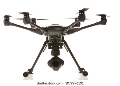 Studio isolated photo of heksacopter drone