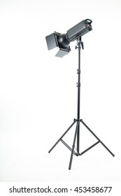 Studio light isolated with white background.