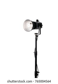Studio Light with Stand on isolated  white background