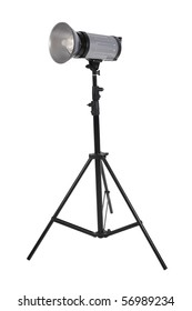 The studio lighter on a support, it is isolated on a white background