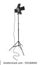 Studio lighting and equipment isolated on the white background with soft shadow