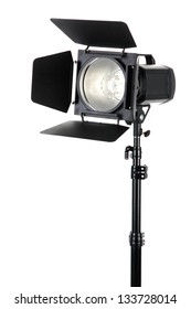 Studio lighting on white background close-up
