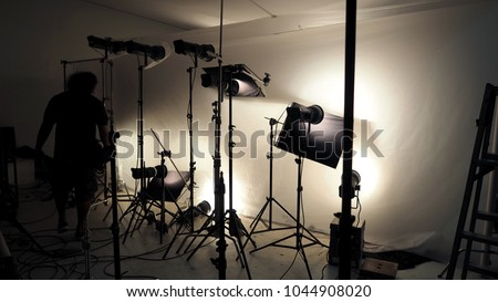Studio Lighting Setup Photo Shooting Production Stock Photo Edit