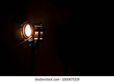 Studio lighting using space for background production film . equipment for photography , video maker