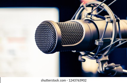 Studio Mic For On Air Broadcast