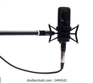Studio Microphone - Isolated on White