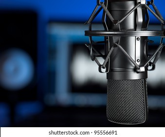 Studio microphone , for music production,audio,entertainment themes