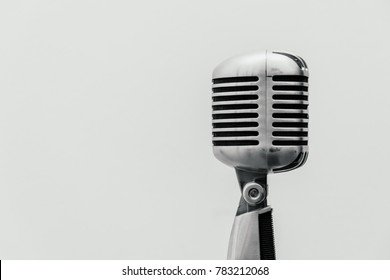 studio microphone for singers on white isolated background
