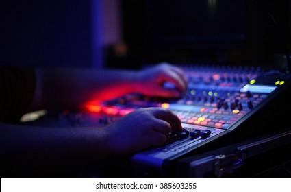 Studio Music Mixing Board