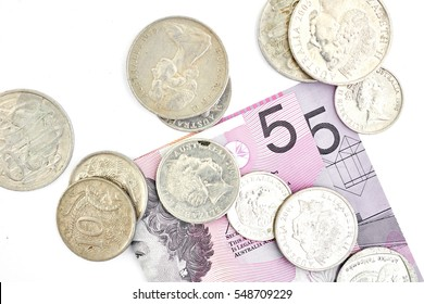 A studio photo of Australian currency